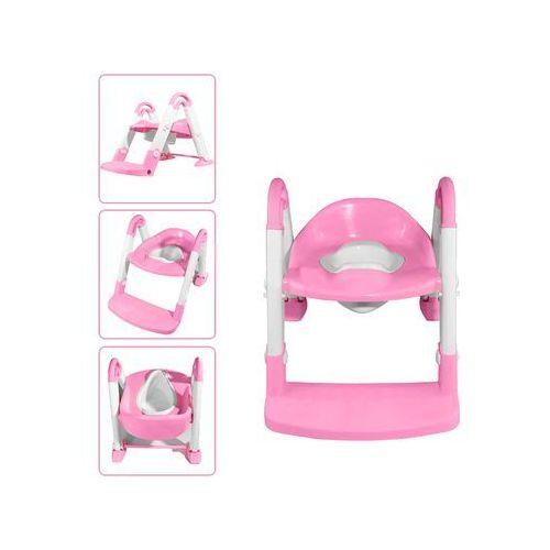 Nocnik + nakładka na sedes + podest 106 różowy - różowy marki Kindersafe