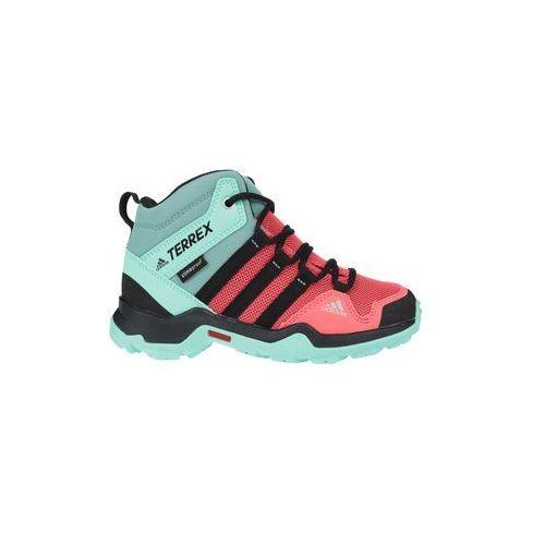 Buty dla dzieci terrex ax2 mid cp k - różowy marki Adidas