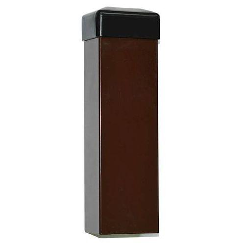 Słupek ogrodzeniowy brązowy 60x40 mm H2000
