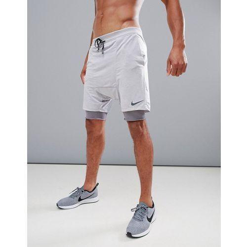 'run division' distance drop crotch shorts in grey 892893-027 - purple, Nike running