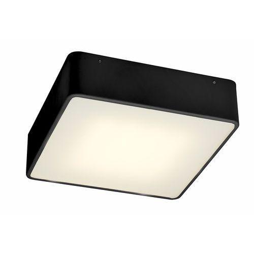 Kaspa Plafon lampa sufitowa flat led 20w 30299102 minimalistyczna oprawa metalowa kwadratowa czarna (5902047301438)