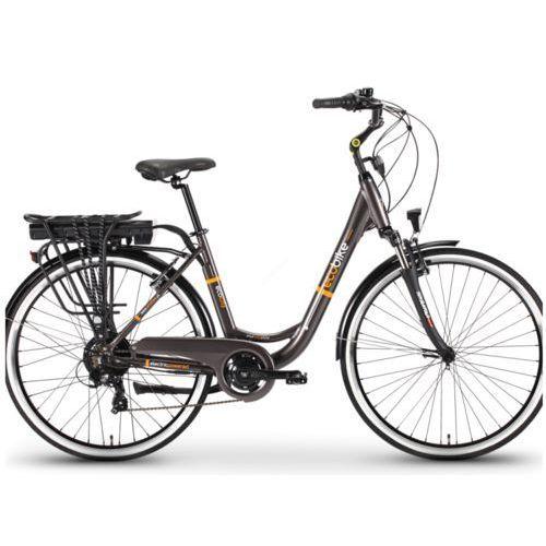 """Rower elektryczny 28"""" city lady grey akumulator lg 10,4 ah marki Ecobike"""