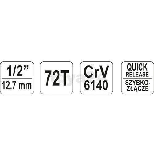 Grzechotka wygięta 1/2'' / YT-0732 / YATO - ZYSKAJ RABAT 30 ZŁ (5906083907326)