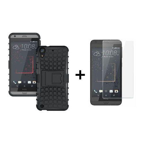 Zestaw | Pancerna obudowa etui Perfect Armor Czarny + Szkło ochronne Perfect Glass dla HTC Desire 530