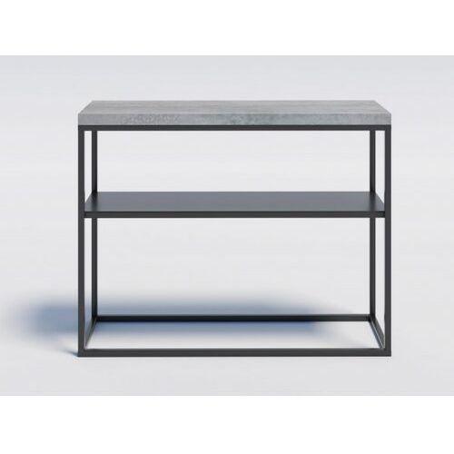 Reqube Industrialna konsola z metalową półką milo2m beton