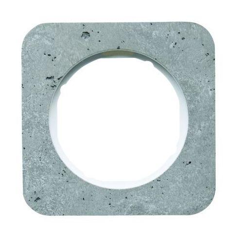 Ramka 1-krotna Berker R.1 beton/biały