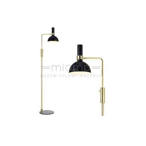 Markslojd Stojąca lampa podłogowa larry 106972 metalowa oprawa kopuła czarna