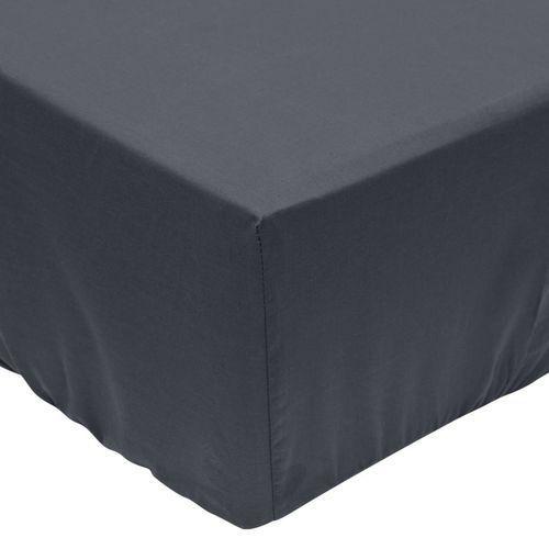 vidaXL Prześcieradła z gumką 160x200 cm, bawełna, antracytowe, 2 szt. (8718475514954)