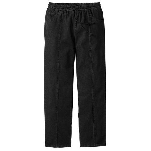 Bonprix Spodnie z gumką w talii classic fit straight czarny