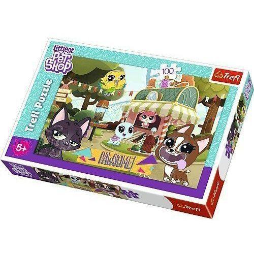 Puzzle 100 elementów - Littlest Pet Shop, Zabawa w parku, 1_645416