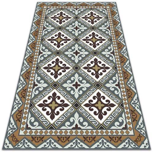 Nowoczesna wykładzina tarasowa nowoczesna wykładzina tarasowa geometryczne kwiaty marki Dywanomat.pl
