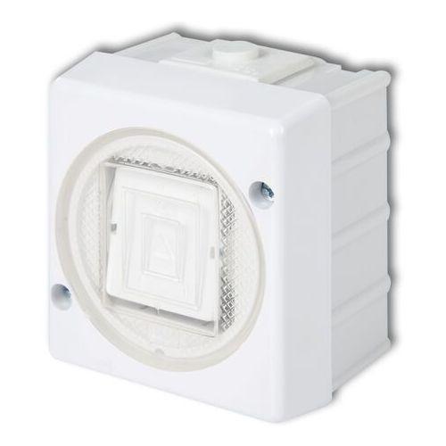 SENIOR WHS-1 Łącznik jednobiegunowy biały (5903292630014)