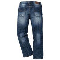 Dżinsy bootcut ciemnoniebieski marki Bonprix