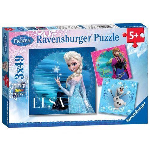 Puzzle 3x49 frozen elsa, anna & olaf marki Ravensburger
