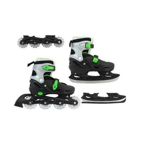 2w1!! Łyżwo-Rolki Black&Green (rozmiar 30-33). - produkt z kategorii- Upominki