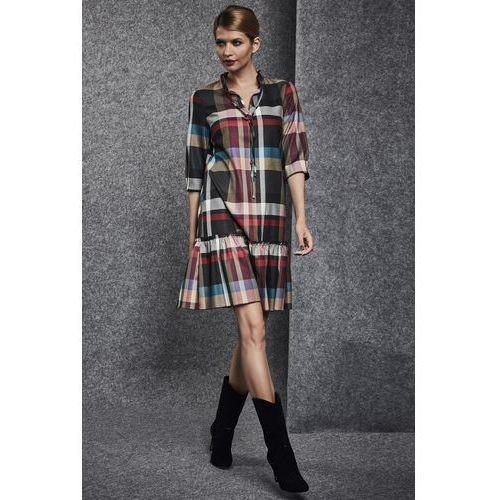 Luźna sukienka w geometryczny wzór - Ennywear