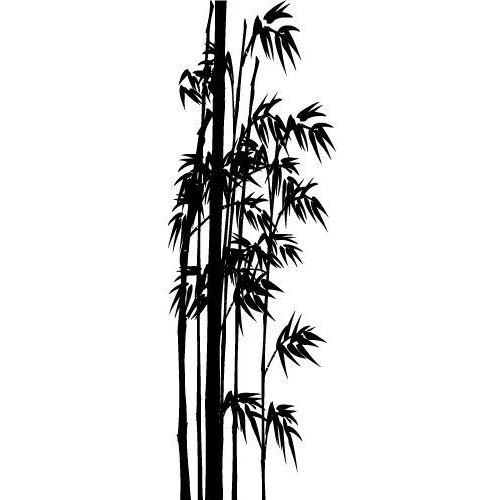 Szabloneria Szablon samoprzylepny flora 290 - bambus - kompozycja od sufitu do podłogi