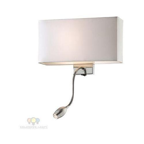 Ideal lux 35949 - kinkiet hotel ap2 bianco 1xe27/60w/230v + 1x1w/led/230v