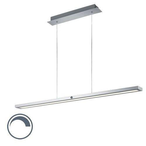 Nowoczesna podłużna lampa wisząca szczotkowane aluminium wbudowany led - silas marki Eth