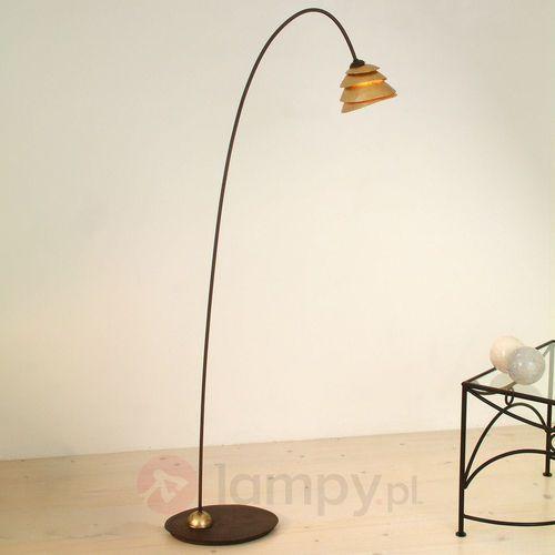 Holländer SNAIL ONE lampa stojąca Brązowy, złoty, 1-punktowy - Klasyczny - Obszar wewnętrzny - ONE - Czas dostawy: od 8-12 dni roboczych (4250151304144)