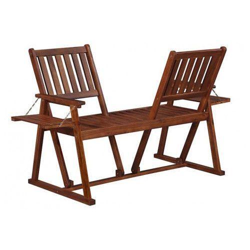 Drewniana ławka ogrodowa lucas - brązowa marki Producent: elior