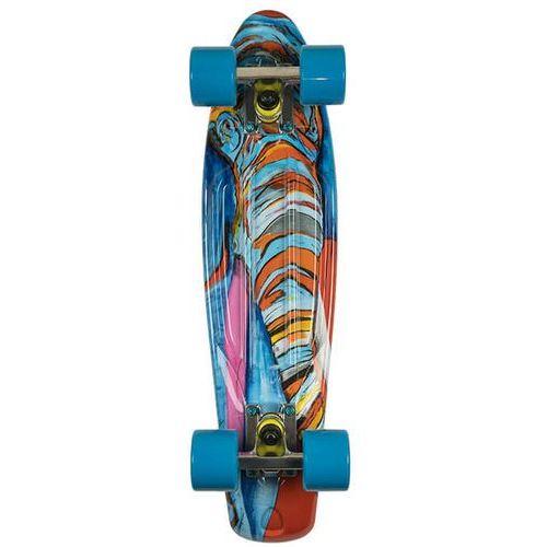 Deskorolka fishskateboards art fish elephant / silver / transparent blue marki Fish skateboards