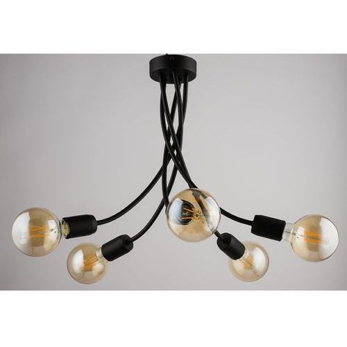 Lampa wisząca luce 1 5 x 60 w e27 czarna marki Jupiter