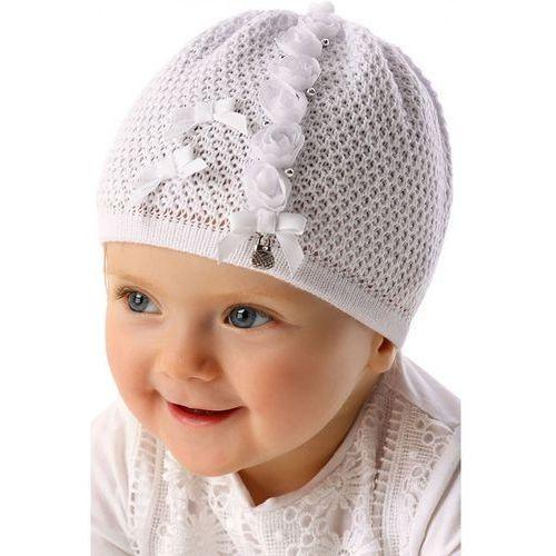 Czapka niemowlęca biała 5x34aw marki Marika