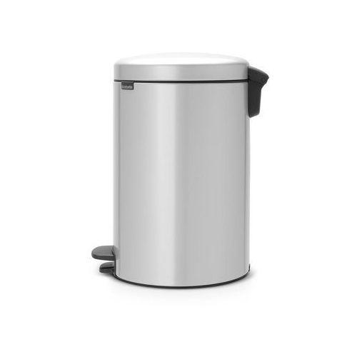 Kosz na śmieci pedałowy newicon 20l metaliczny szary marki Brabantia