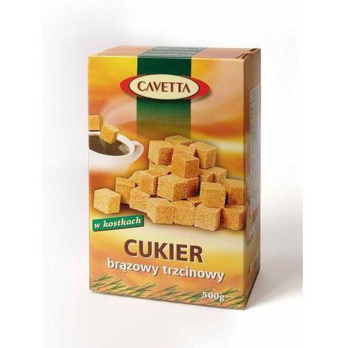 Cukier brązowy trzcinowy w kostkach Cavetta 500 g - Confex (5903874731238)