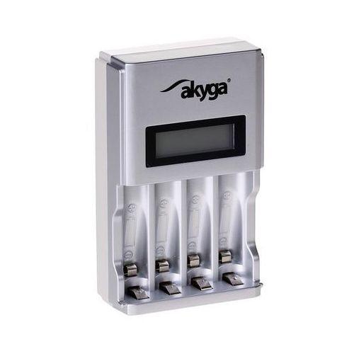 Ładowarka akumulatorków Akyga AK-BC-01 4 x AA/AAA LCD (5901720132741)