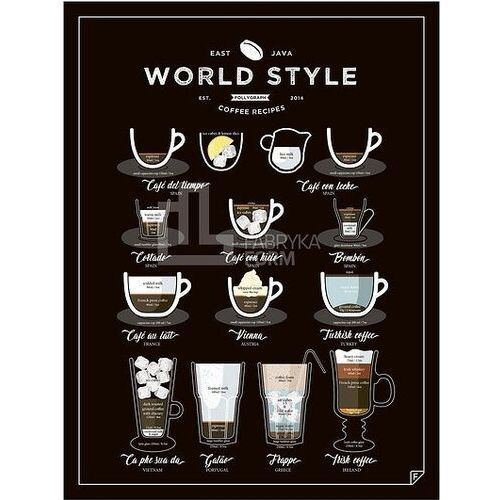 Plakat World Style Coffee 30 x 40 cm, wscen3040