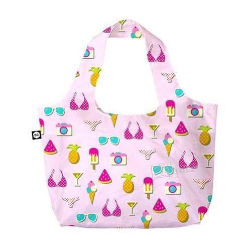 BG Berlin Eco Bags Eco torba na zakupy 3w1 - Pink Summer