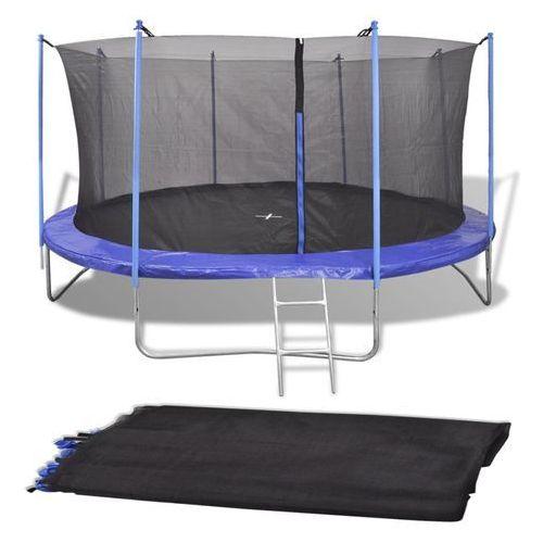 vidaXL Siatka do okrągłej trampoliny 3,96 m, PE, czarna (8718475972259)