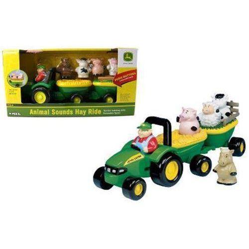 dźwiękowy traktor j ohn deereze zwierzątkami marki Tomy