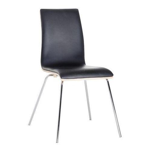 Krzesło do jadalni brązowe HARLEM