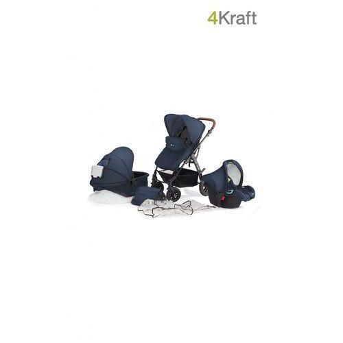 KinderKraft Wózek wielofunkcyjny 3w1 MOOV, Navy