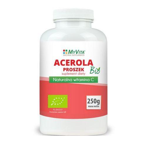 Acerola sproszkowany sok BIO 250g (Myvita), produkt z kategorii- Witaminy i minerały