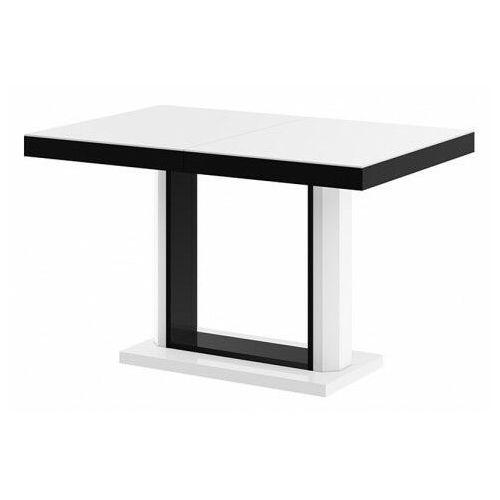 Rozkładany stół wysoki połysk biało czarny - Muldi 2X