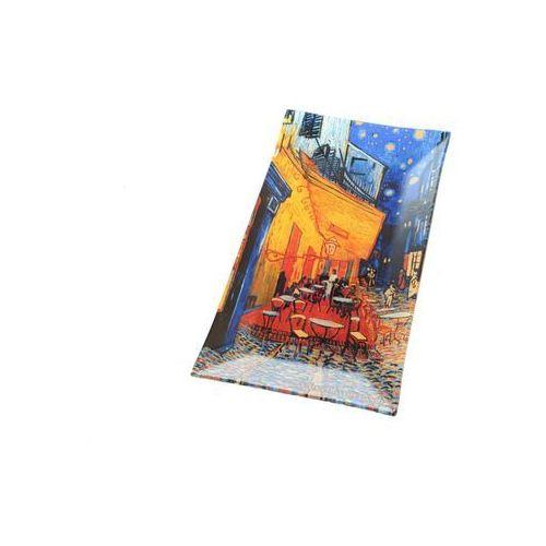 Carmani Talerz szklany prostokątny van gogh taras
