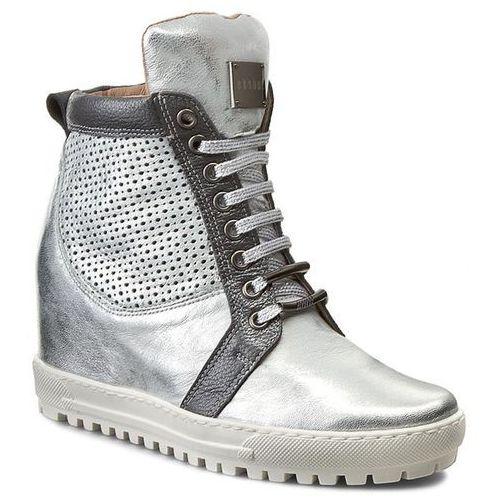 Sneakersy - 76-4129-369/f97/f94 srebro licowa marki Eksbut