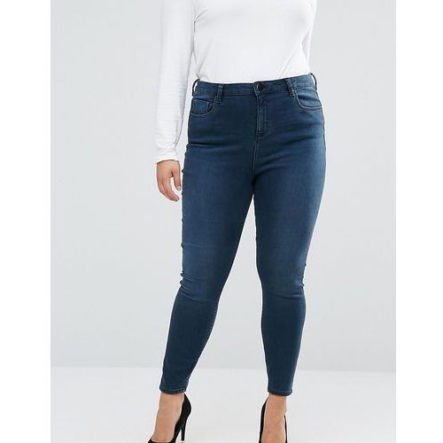ASOS CURVE High Waist Ridley Skinny Jeans In Grace Wash - Blue, jeans