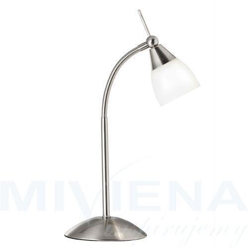 Searchlight Exec lampa stolowa 1 stal mleczne szkło