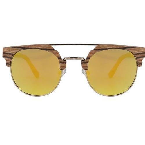 Okulary Słoneczne Oh My Woodness! Victoria Falls Polarized C6 LS2157, kolor żółty