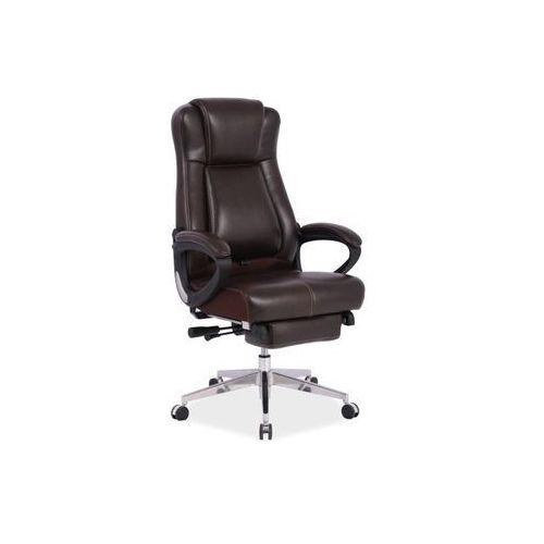 Fotel biurowy president brązowy marki Signal