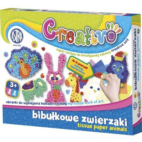Obrazki do wyklejania ASTRA Creativo kulki z bibuły z kategorii Pozostałe zabawki