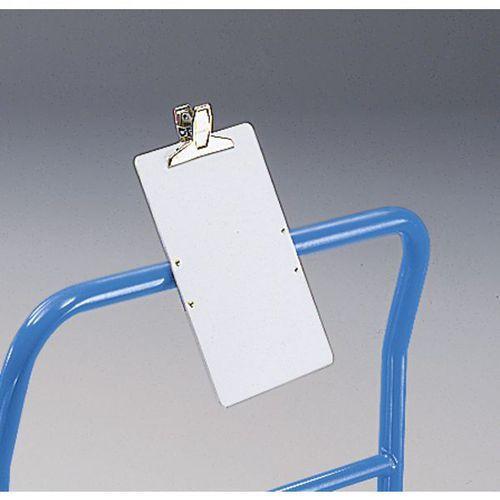 Tablica do opisywania z PVC,z zaciskiem do papieru