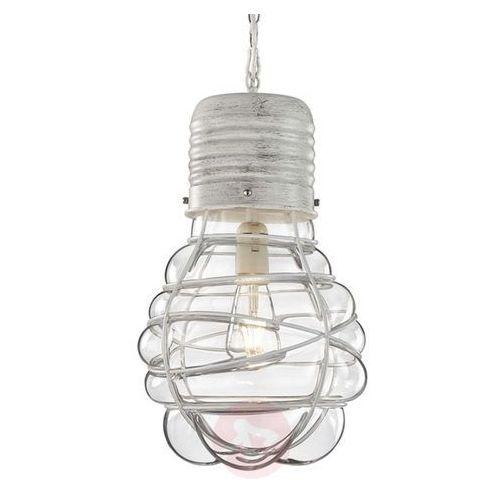 Trio edda lampa wisząca ciemnobrązowy, biały, 1-punktowy - vintage - obszar wewnętrzny - edda - czas dostawy: od 4-8 dni roboczych (4017807334449)