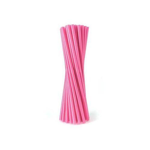 Słomki - rurki różowe proste - 24 cm - 500 szt. - różowy marki Go