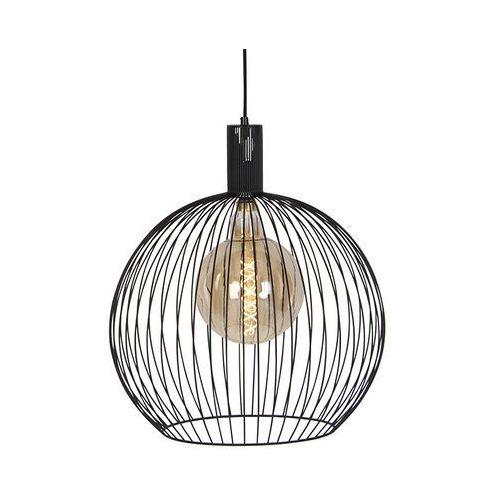Nowoczesna okrągła lampa wisząca czarna 50 cm - wire marki Eth